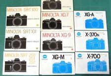 Minolta Slr Instruction Manuals Lot of 10 Originals: Sr-T Xg X-370n X-700