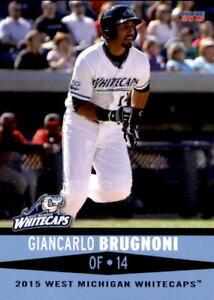 2015 West Michigan Whitecaps Choice #3 Giancarlo Brugnoni Grosse Pointe Michigan