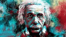 "Poster 19"" x 13"" Albert Einstein Abstract Painting"