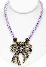 KIRKS FOLLY TIE THE KNOT BOW MAGNETIC INTERCHANGEABLE NECKLACE ~ New Release ~