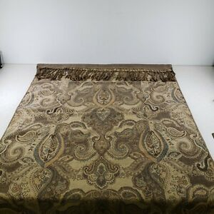 Table Runner with Fringe Brocade Embroidered  Bed Scarf 76 inch X 36 inch