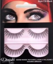 NEW DIMPLES FALSE EYELASHES 118 WITH GLUE 2 PAIRS HANDMADE NATURAL LOOK GIFT