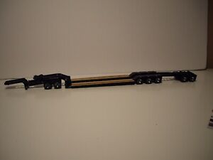 DIECAST MASTERS 1/50 BLACK SPECIALIZED TRI-AXLE LOWBOY SAME SCALE AS FIRST GEAR