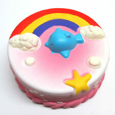 "Pink Rainbow Cake 4.5"" JUMBO SIZE Kawaii Slow Rising Squishy Squishies Soft 1pc"