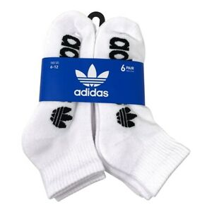 adidas Men's Originals Quarter Ankle Socks, 6 Pairs, (Shoe Size 6-12)