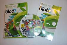 XBOX 360 GAME DE BLOB 2 +BOX INSTRUCTIONS / COMPLETE PAL