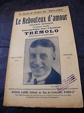 Partition Le rebouteux d'amour Trémolo 1926 Music Sheet