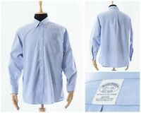 Mens BROOKS BROTHERS Button Down Shirt Long Sleeve Blue Size 2XL XXL 17 1/2 - 34