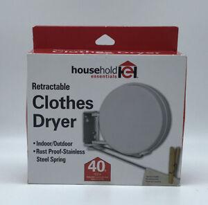 Household Essentials R-400 Retractable Clothes Dryer Outdoor-Indoor 40 Ft