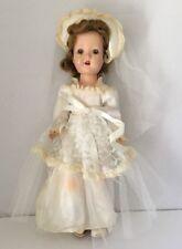 Vintage Walker Doll FairyLand Toy Prod. Composition, Sleepy Eye, Wedding Dress