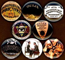 """Ouija board 8 NEW 1"""" buttons pins badge psychic planchette paranormal"""