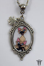 Mischievous Bad Kitties Si & Am Lady and the Tramp Inspired Cameo Necklace