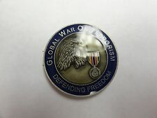 CHALLENGE COIN GLOBAL WAR ON TERRORISM JOINT MISSION IN PURSUIT OF FREEDOM