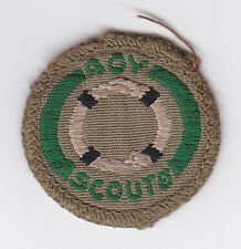 1960's UNITED KINGDOM / BRITISH SCOUTS - BOY SCOUT LIFESAVER Proficiency Badge
