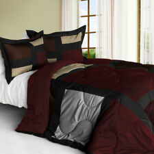 [Retro Classic] Quilted Patchwork Down Alternative Comforter Set (Twin Size)