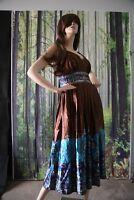 Gorgeous Silky Paisley Medallion Beaded Bohemian Dressy Gypsy Dress 6