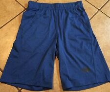 Boys The North Face Blue Heathered Athletic Shorts, Size M 10-12 - NWT
