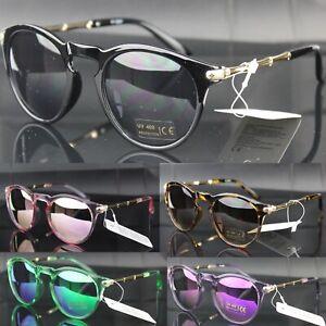 Sunglasses Oval Mirror Lenses Keyhole Fashion Womens Mens UV400