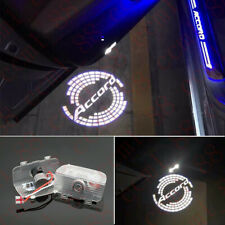 2x Car LED Door Ghost Logo Projector Puddle Lights HD For Honda Accord 2013-2020