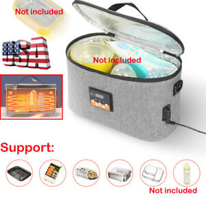 Portable Food Warmers Electric Heater Lunch Box Mini Oven DC 12V Car US Local