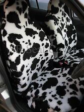 MAZDA BONGO CAR SEAT COVERS COW FAUX FUR 2 FRONTS + 2ND ROW ONLY