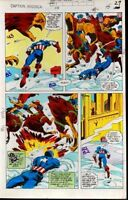 1979 Captain America 238 page 27 Marvel Comics original color guide art: 1970's