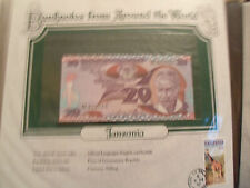 World Banknotes Tanzania 20 Shilingi 1985 P 9 UNC Prefix BE