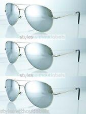 3 Pairs Lot ! Aviator Pilot Mirrored Sunglasses Extra Large Spring Hinge S030
