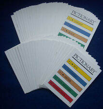50  PICTIONARY BOARD GAME CARDS, QUICK DRAWING FAMILY FUN, PARTY/TRAVEL, HEN