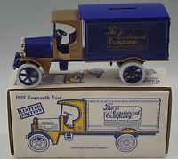 1925 KENWORTH VAN TRUCK EASTWOOD COMPANY DIE-CAST COIN BANK 1/25  MIB