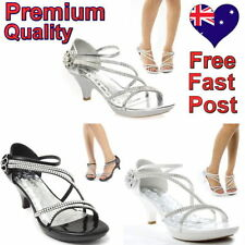 Leather Special Occasion Striped Heels for Women