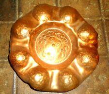 Alter Kupferteller mit Aufhängung - echte alte Handarbeit