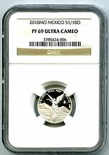 2010 MEXICO 1/10 OZ ONZA SILVER PROOF LIBERTAD NGC PF69 UCAM EXTREMELY RARE