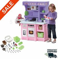Kids Kitchen Play set cooking baking Playset full size Pretend toys 30 pc step 2