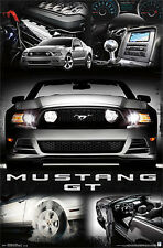 Ford Mustang GT 2014 American Muscle Car Official Autophile POSTER