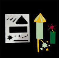 Stanzschablone Feuerwerk Geknatter Weihnachten Hochzeit Neujahr Karte Album DIY