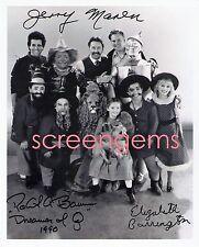 Dreamer of Oz NBC-TV signed photos John Ritter Jerry Maren L. Frank Baum bio pic