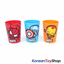 MARVEL Plastic 3 pcs Cup Cups Set Mini Picnic Toothbrush Cup Made in Korea