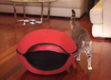 Pet Bed Pod Cat Dog Cave Red