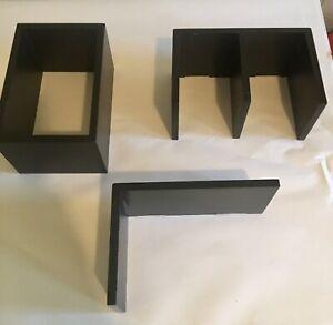 Black Floating Wall Shelves Set Of 3