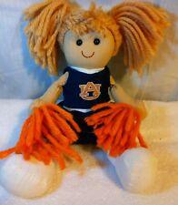 """Vintage Auburn Cheerleader Doll 11"""""""