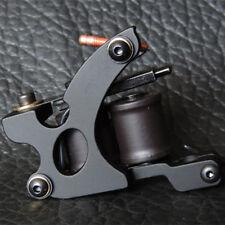 Casting Carbon Steel Tattoo Machine Gun 10 Coil Shader Body Art Black Color