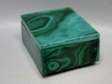 Malachite Stone Ring Box Green Gemstone 1.5 inch Small Jewelry Blessing Box #11