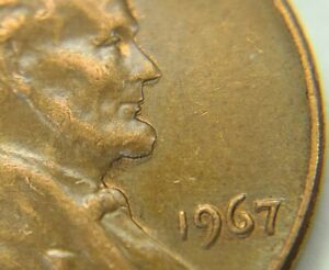 1967 P Lincoln Memorial Cent Obverse Nose/Chin/Liberty/Date Doubling  TR930A