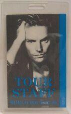Sting / The Police - Original Concert Laminate Tour Backstage Pass