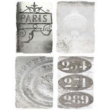 4tlg. Bild PARISER APPARTMENT shabby chic french Gemälde, Leinwanddruck,Gemälde