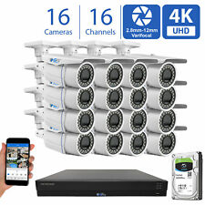 16 Channel Security Camera System 12T Dvr 16 8Mp Cctv Varifocal 4K Bullet Camera