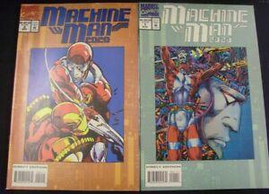 MACHINE MAN 2020 1-2 MARVEL COMIC SET COMPLETE DEFALCO WINDSOR-SMITH 1994 VF/NM