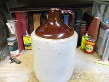 CROCK JUG Antique stoneware 4 QUART 1 GALLON shoulder whiskey pottery,ORIGINAL