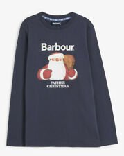Barbour Father Christmas Children's  Long Sleeved Jersey Top Size 8-9 Years BNWT